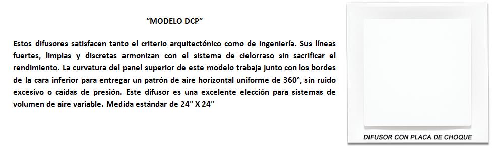 modelo dcp